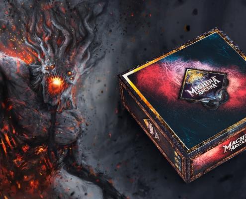 Ein Monster steht neben der Box des Grundspiels