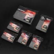 Sechs Packungen mit Kartenhüllen